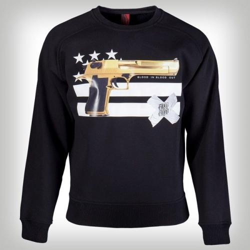 Blood In Blood Out Gun and Stripes Sweater