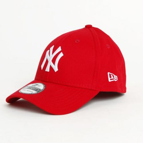 New Era 39thirty MLB League Basic NY Yankees Scarlet White