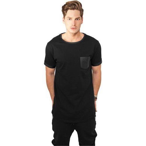 Urban Classics Long Shaped Leather Imitation Tee Blk