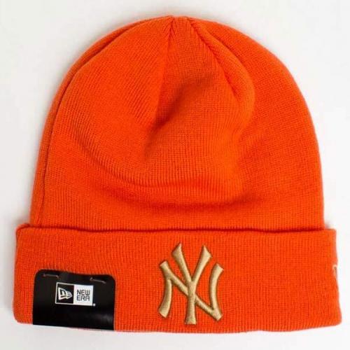 New Era MLB League Essential Cuff NY Yankees Knit Orange