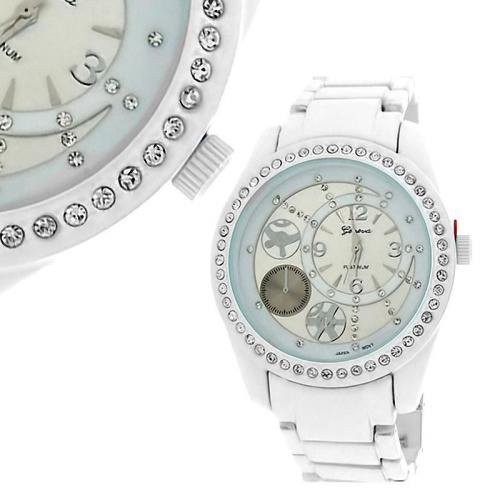 Iced Out Bling Bling Metal Watch - STREET BLING white