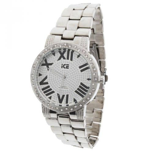 Iced Out Bling Bling Metal Watch - ITALIAN