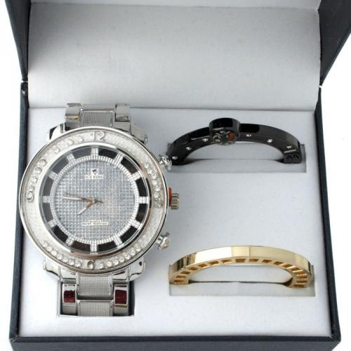 Iced Out Watch Set Box - METAL KING silber