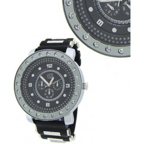 Iced Out Bling Style Designer Watch - silver