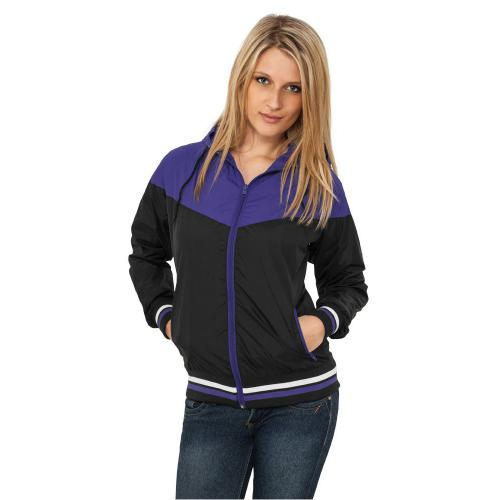 Urban Classics Ladies Windrunner Black Purple