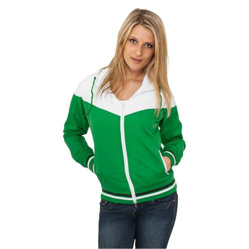 Urban Classics Ladies Windrunner Green White