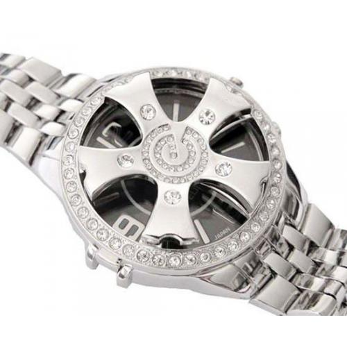 Bling Bling Spinner Watch SILVER