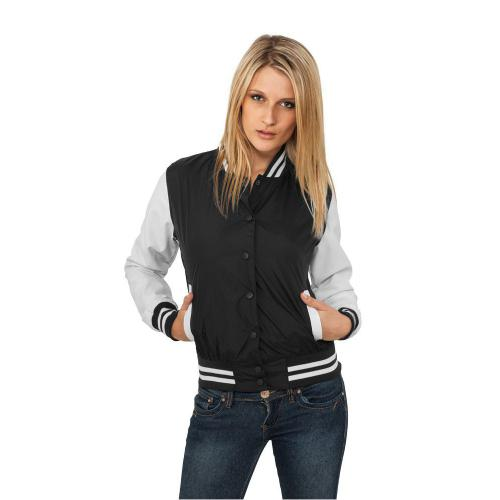Urban Classics Ladies Light College Jacket Black White