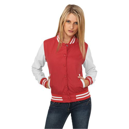 Urban Classics Ladies Light College Jacket Red White