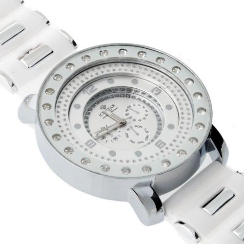 Iced Out Bling Style Designer Watch - DRIFT white