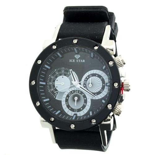 Iced Out Bling Silicone Watch - RACER black Iced Out Bling Silicone Watch -  RACER black 23f854d081