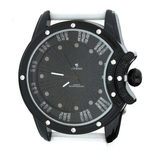 Iced Out Bling Silicone Watch - MOON black   white Iced Out Bling Silicone  Watch - MOON black   white 0464ce181e