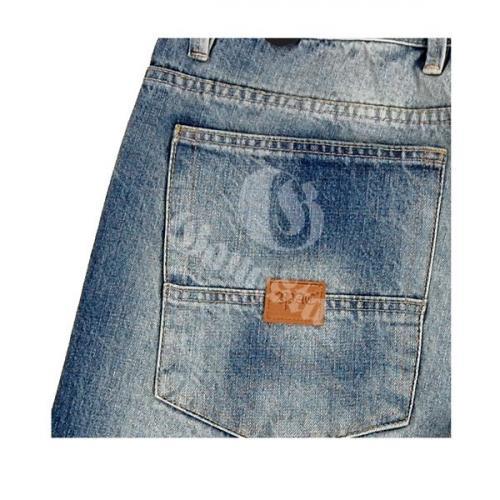 2-Pac Basic Logo Denim Shorts Blue