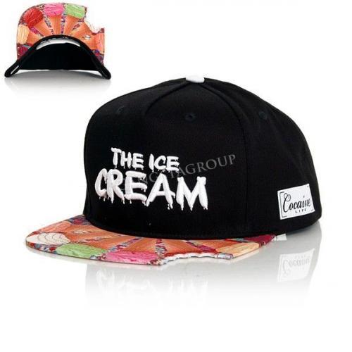 Cocaine Life The Ice Cream Snapback Black