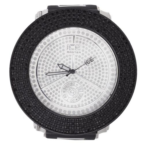 Iced Out Bling Uhr - 4 ROW CASE