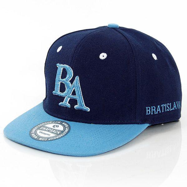 GangstaGroup BA Bratislava Logo Snapback Cap Navy Light Blue - Bronx b91f3add169
