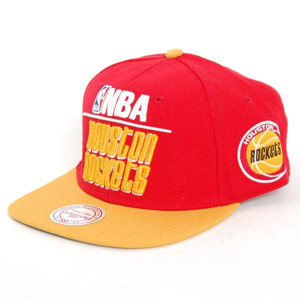 9b60d4b8a5f Mitchell   Ness Houston Rockets Media 2T Snapback Cap - Bronx