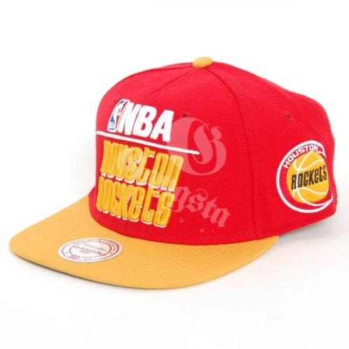 Mitchell & Ness Houston Rockets Media 2T Snapback Cap