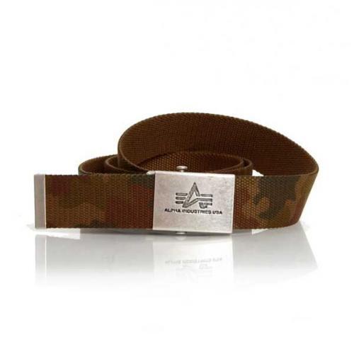 Alpha Industries Heavy Duty Belt 4cm Wood Camo
