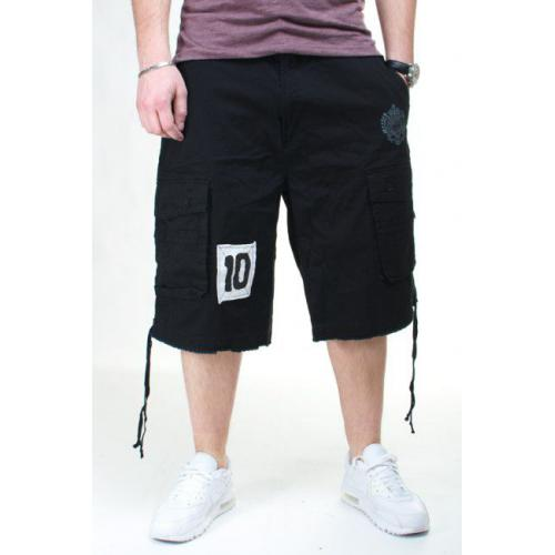 AKADEMIKS NO 10 CARGO SHORT BLACK