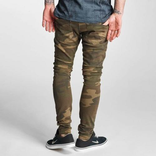 2Y Slim Fit Jeans Brown Camouflage