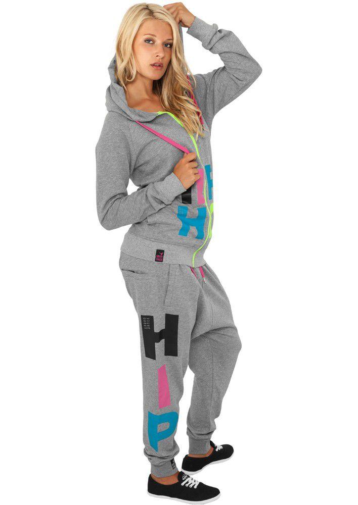 Urban Classics Hip Hop Sweatpant - L / šedá