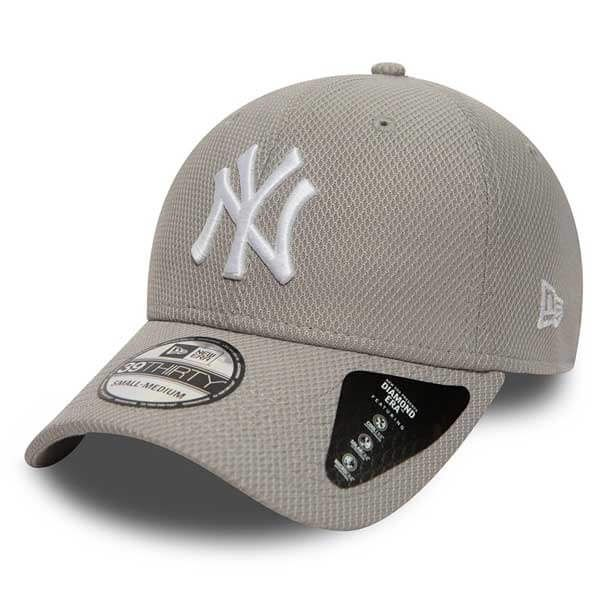 New Era 39thirty MLB Diamond Era NY Yankees Grey - M/L