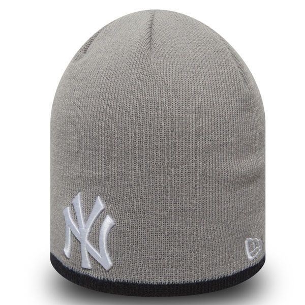 New Era MLB Team Skull knit NY Yankees Grey - Uni