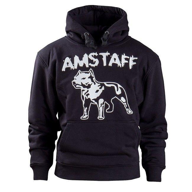 Amstaff mikina - L / čierna