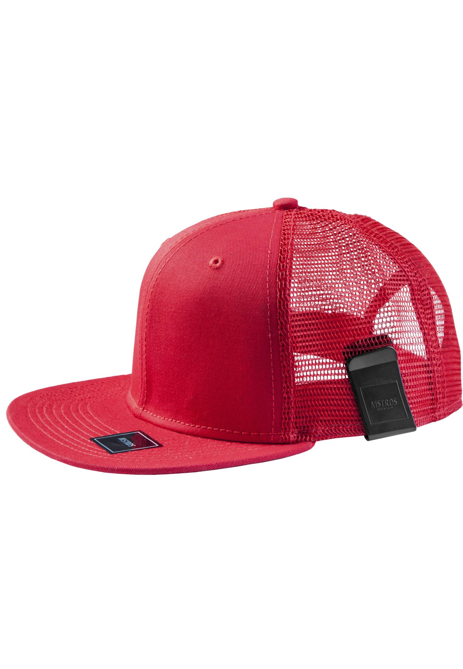 Master Dis MoneyClip Trucker Snapback Cap red - One Size