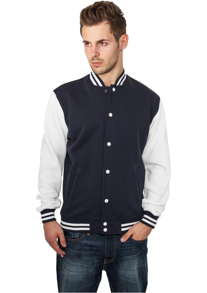 Urban Classics 2-tone College Sweatjacket Nvy Wht - XL / tmavomodro - biela