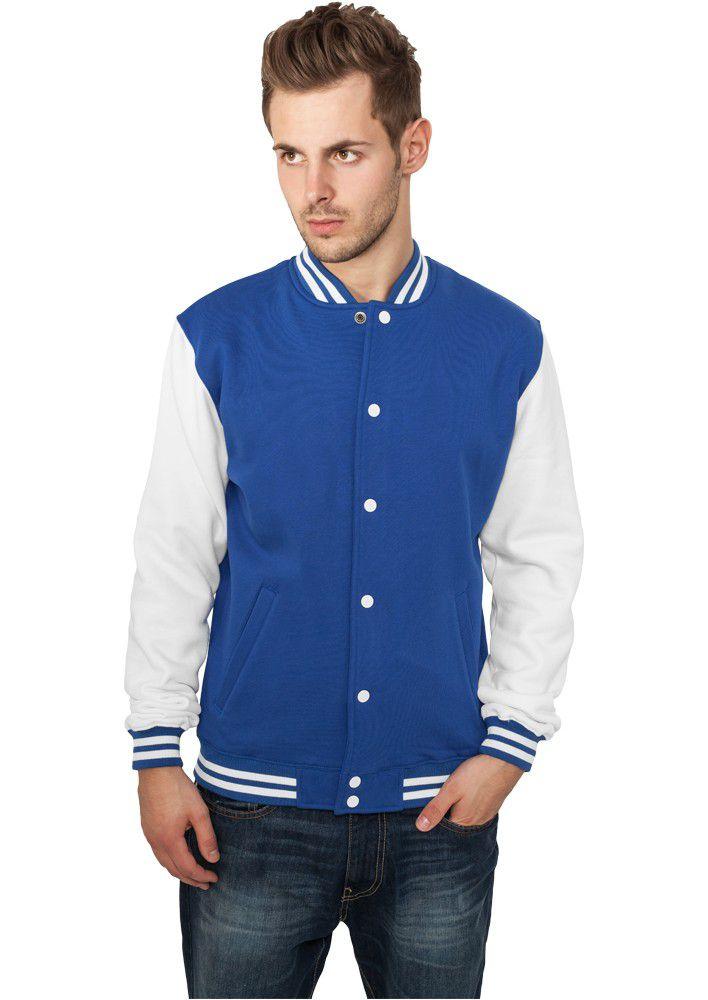 Urban Classics 2-tone College Sweatjacket Roy Wht - 2XL / modro-biela