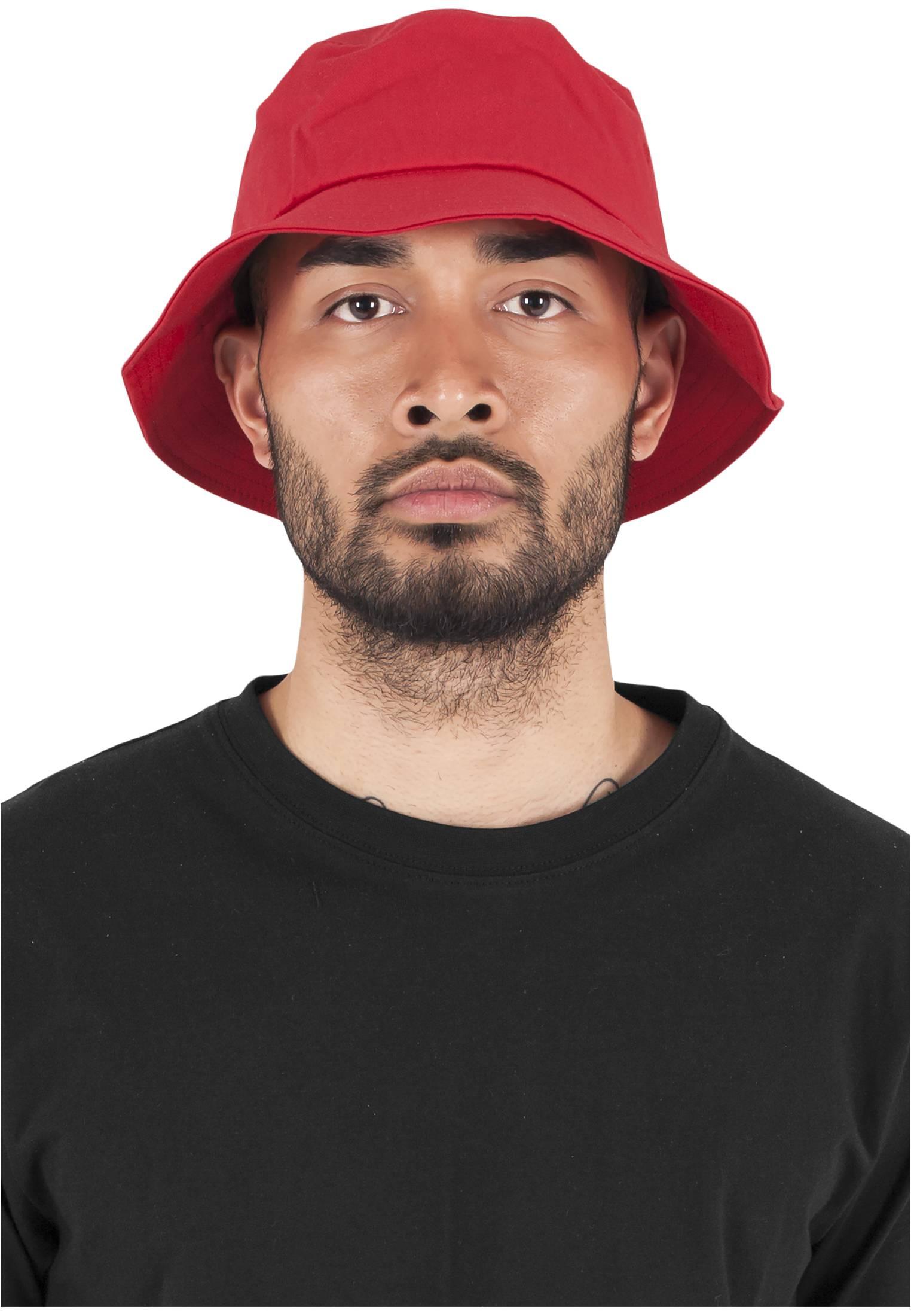 Urban Classics Flexfit Cotton Twill Bucket Hat red - One Size