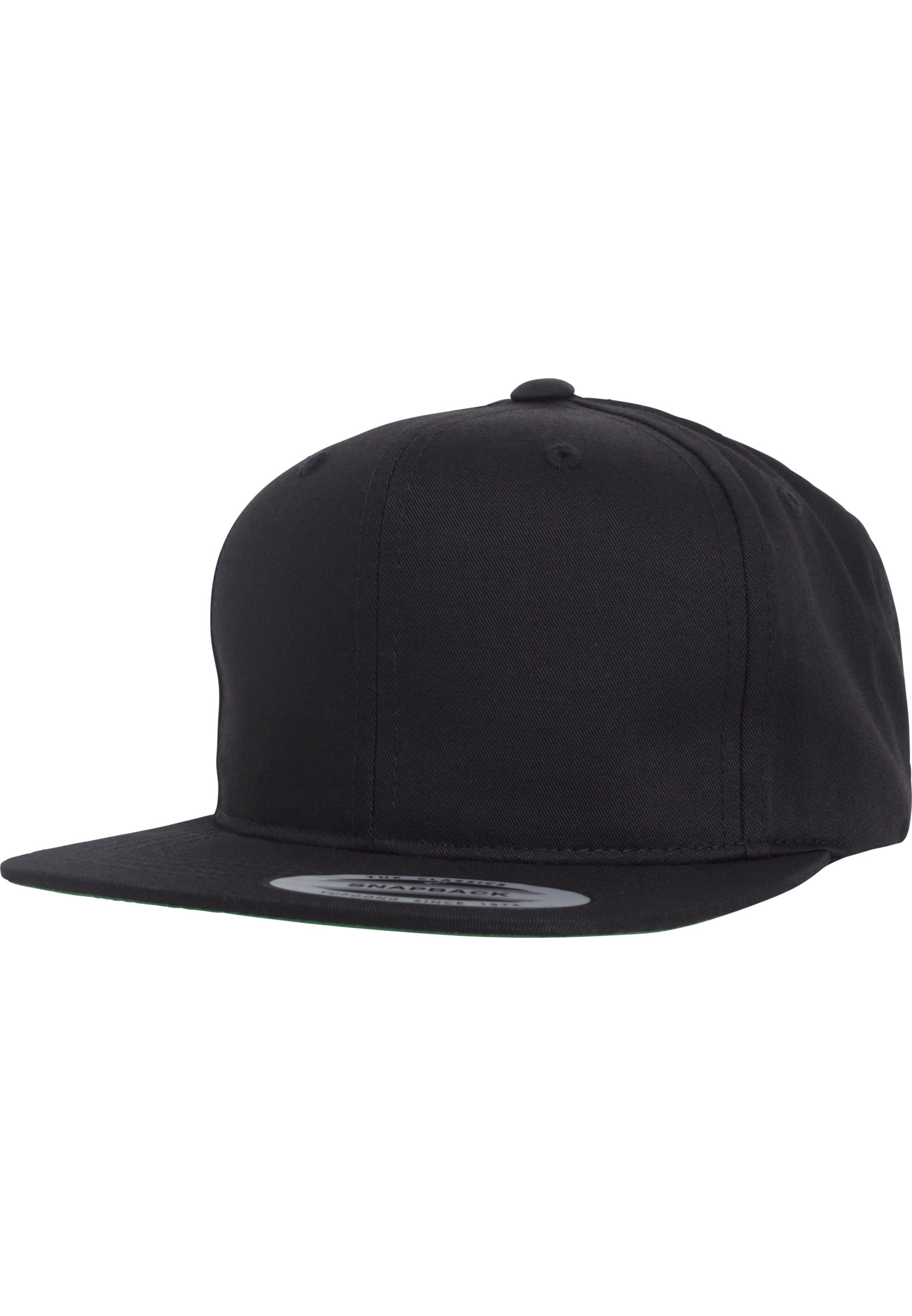Urban Classic Pro-Style Twill Snapback Youth Cap black - B (Ages 6-14)