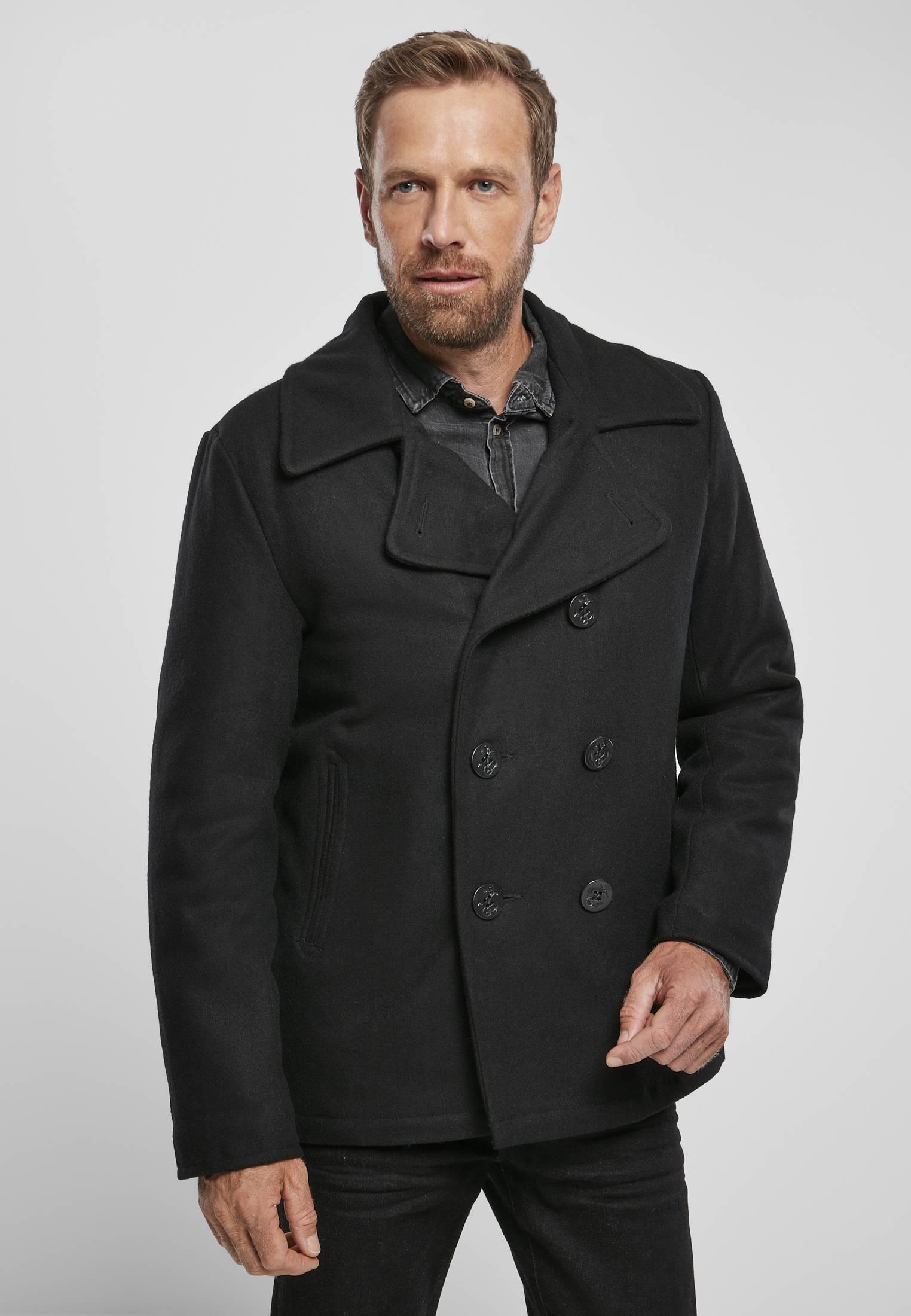 Urban Classics Brandit Pea Coat black - L
