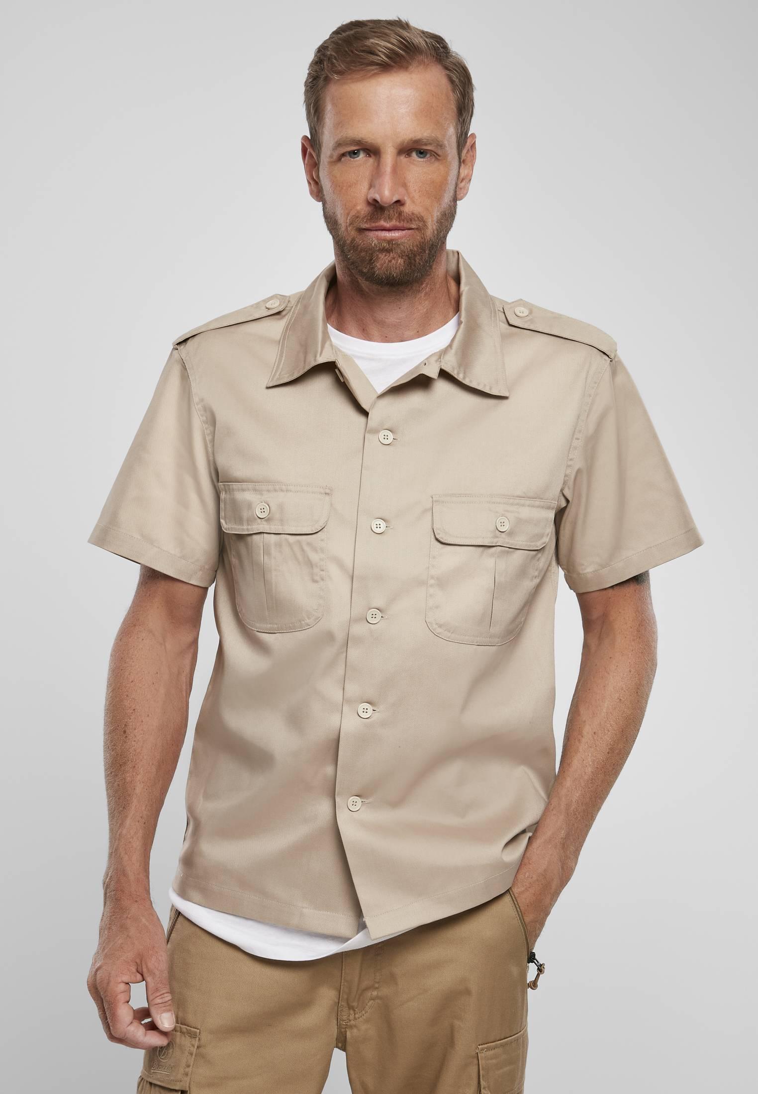 Urban Classics Brandit Short Sleeves US Shirt beige - 3XL