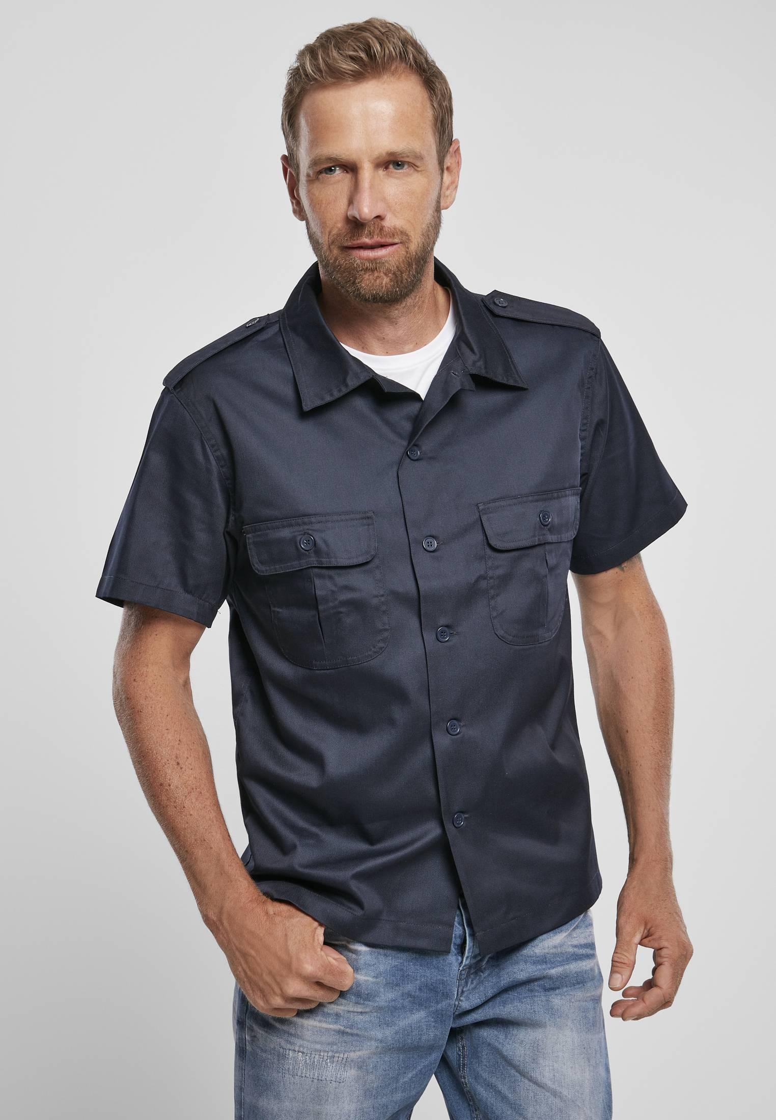 Urban Classics Brandit Short Sleeves US Shirt navy - M