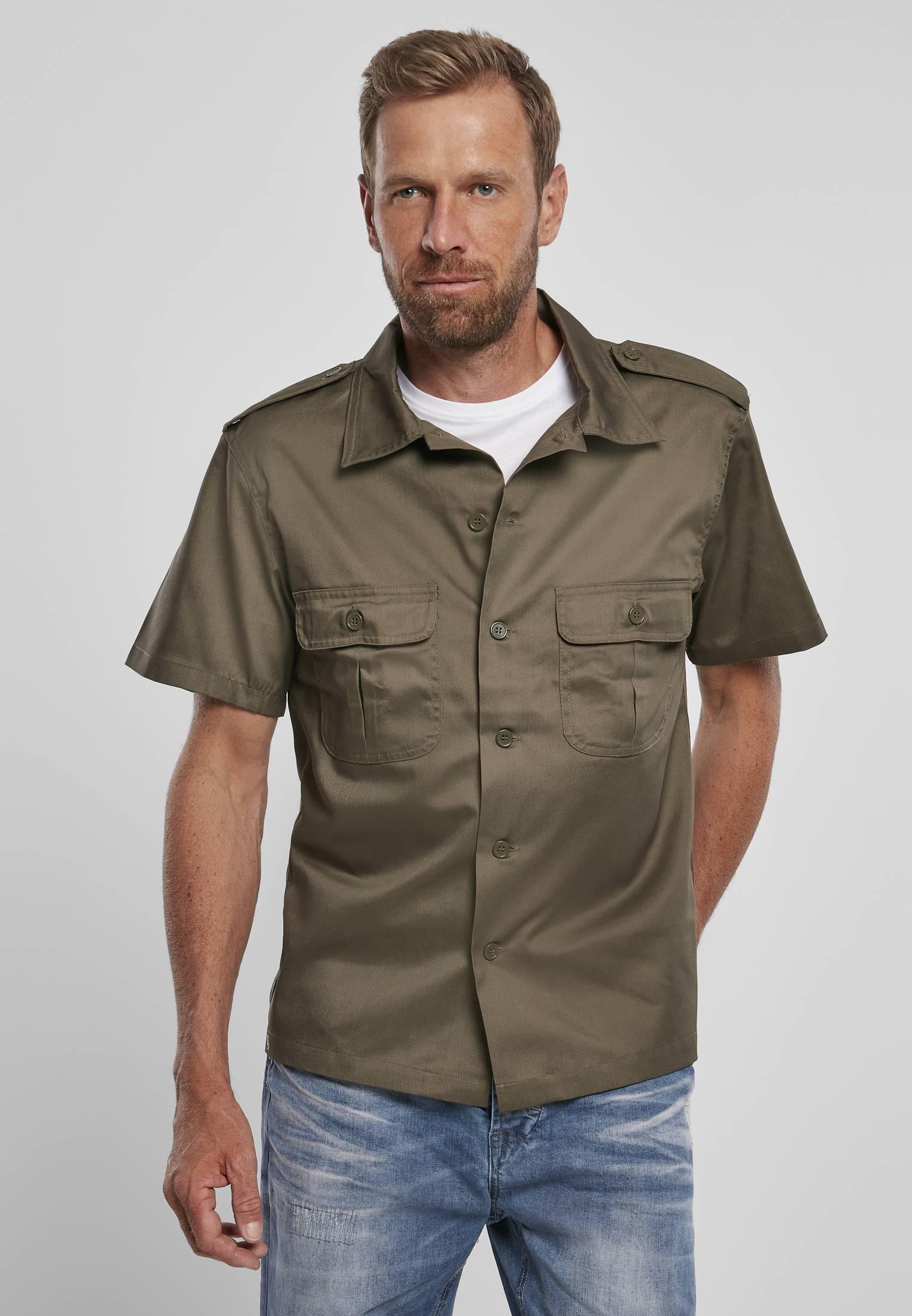 Urban Classics Brandit Short Sleeves US Shirt olive - 7XL