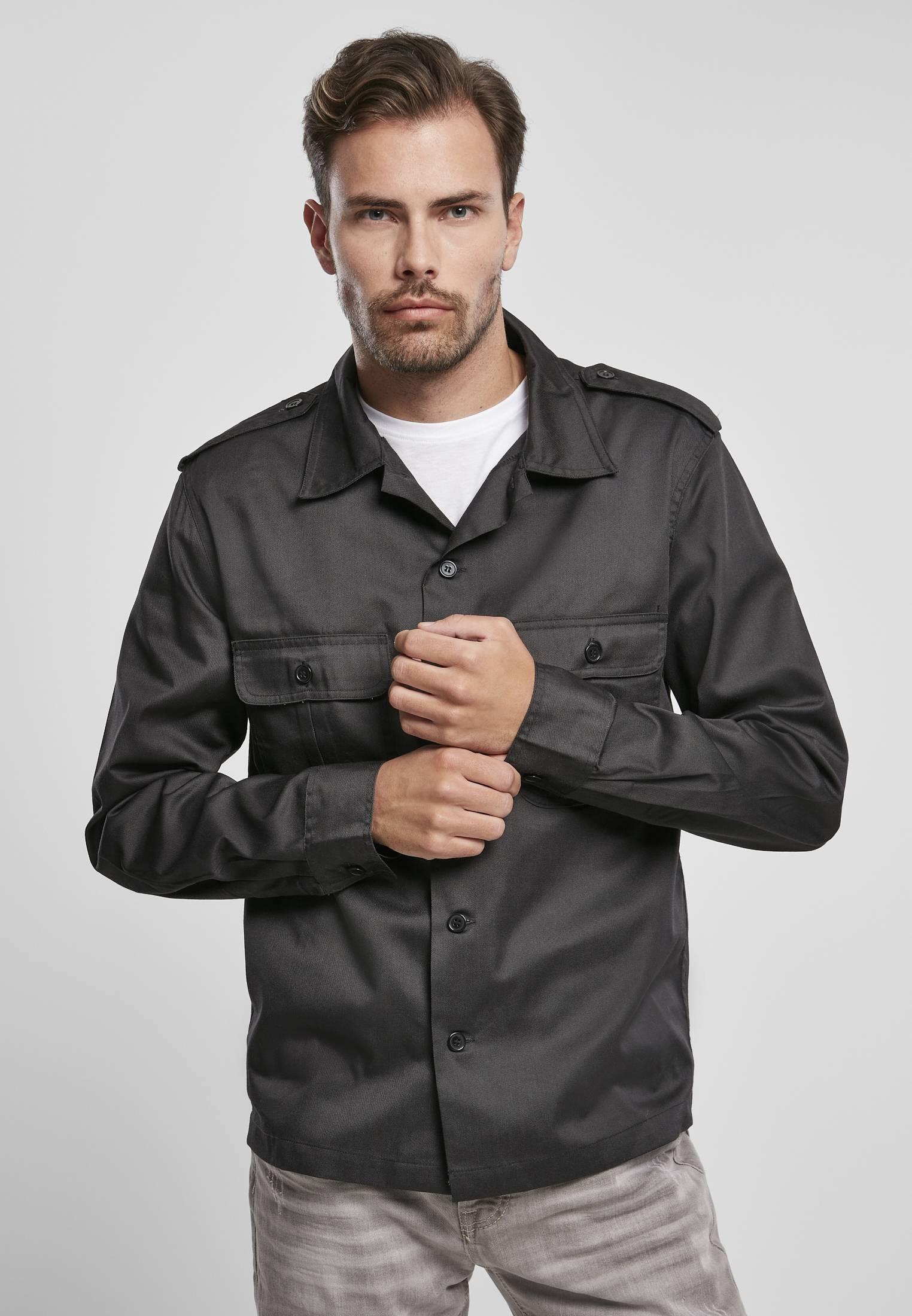 Urban Classics Brandit US Shirt black - S
