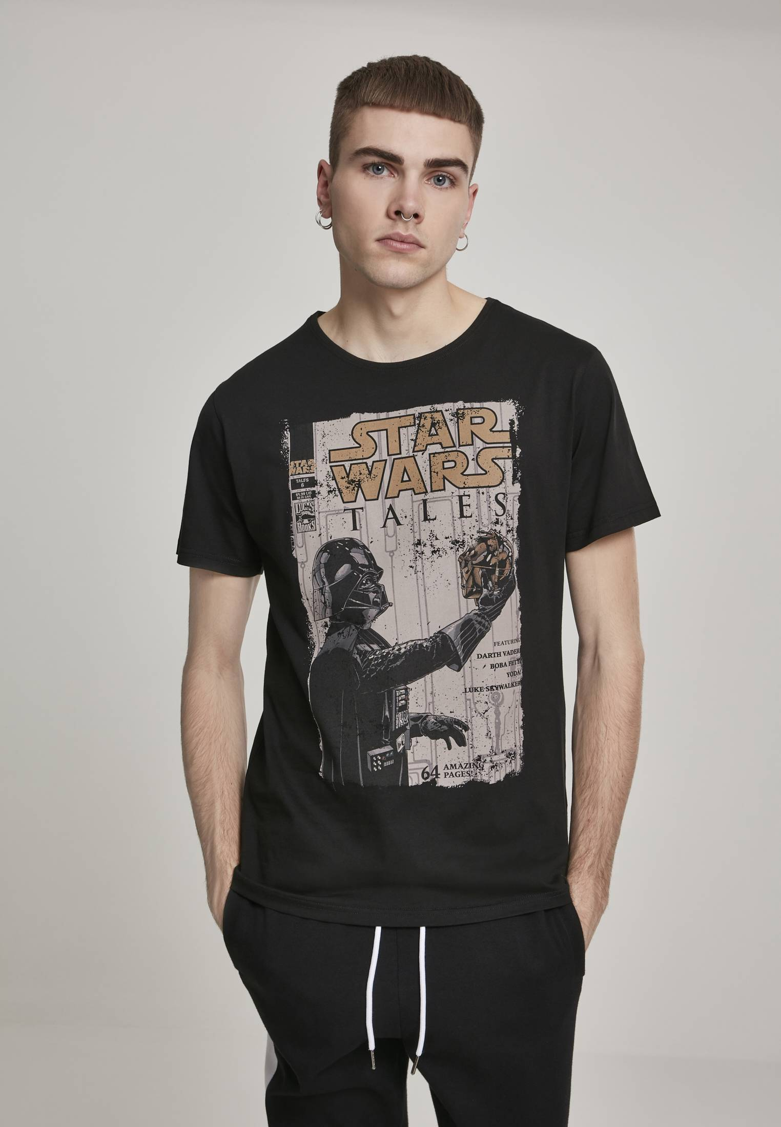 Merchcode Star Wars Darth Vader Tales Tee black - S
