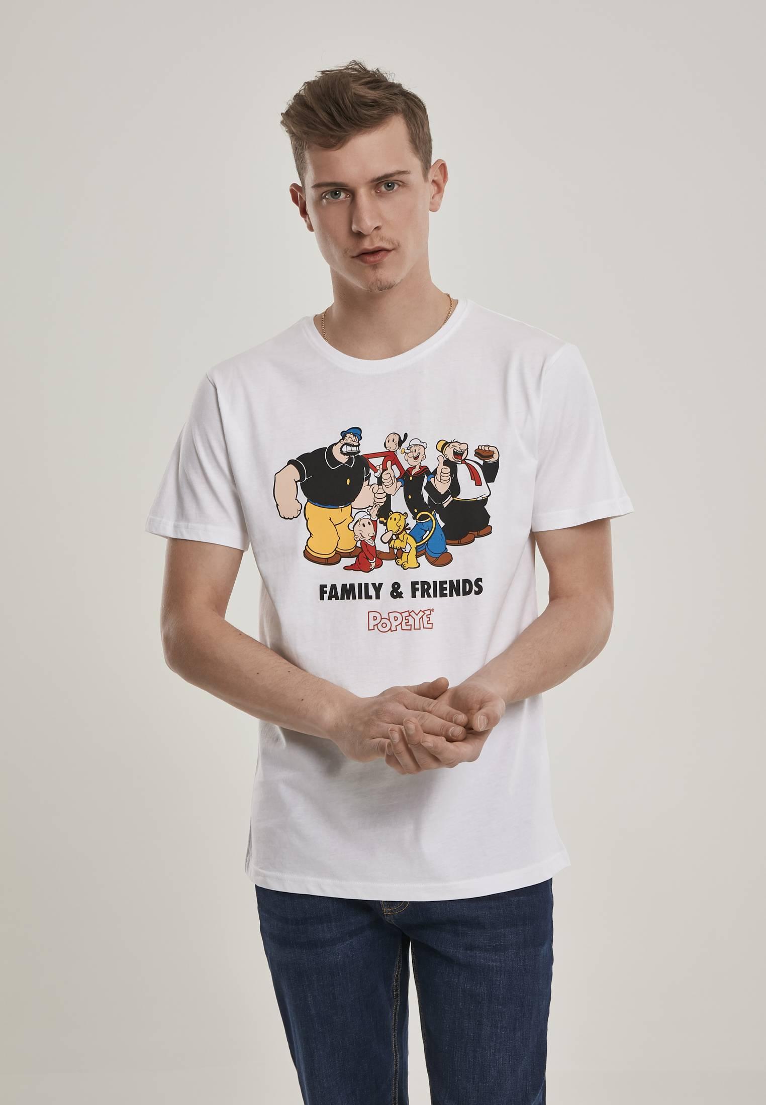 Merchcode Popeye Family & Friends Tee white - XS