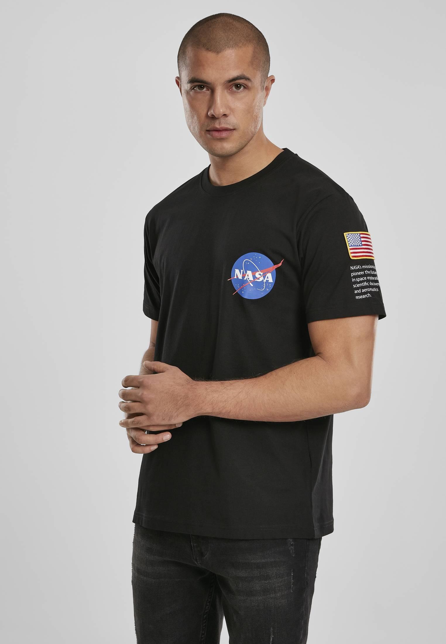 Mister Tee NASA Insignia Logo Flag Tee black - S