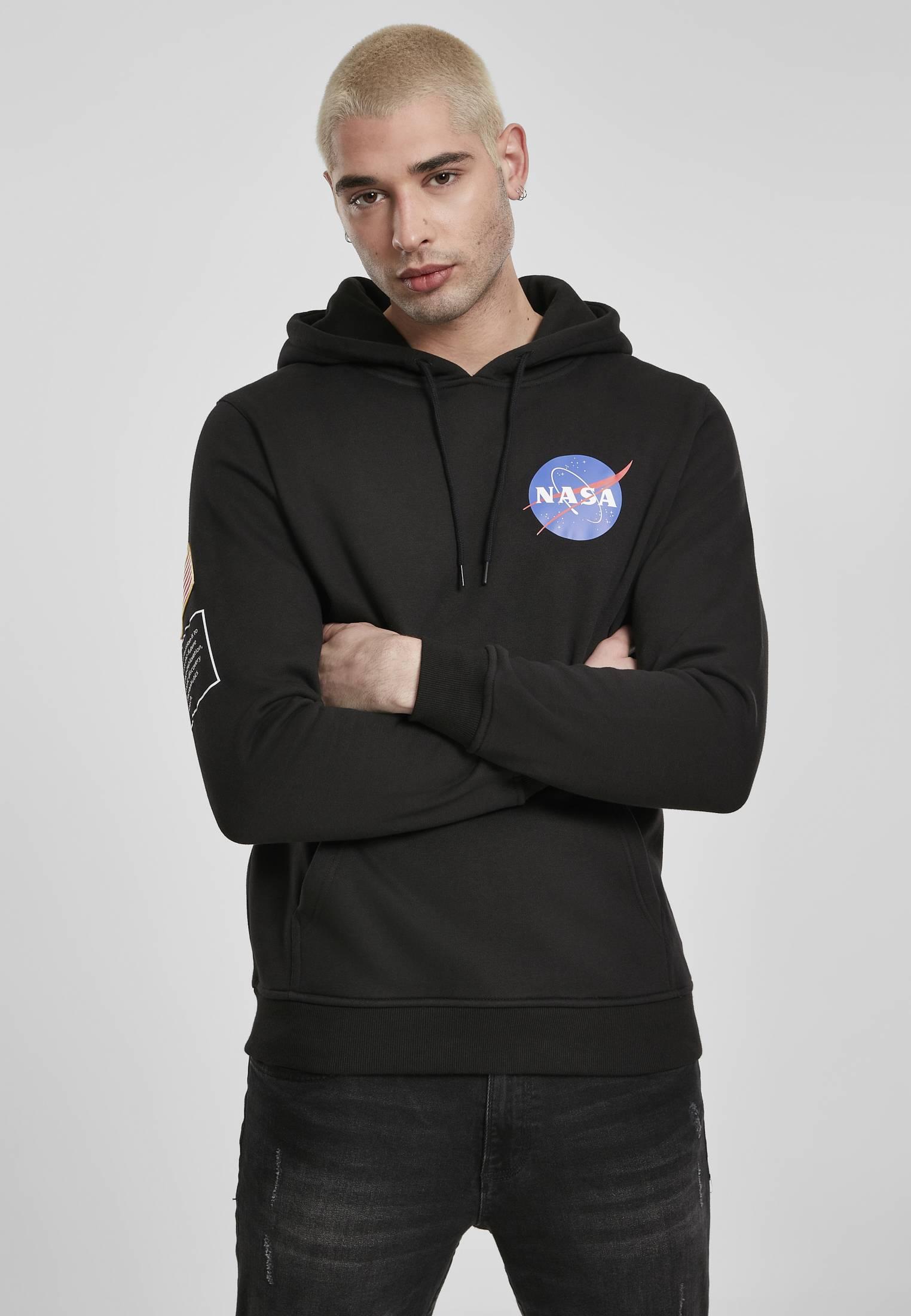 Mister Tee NASA Insignia Flag Hoody black - S