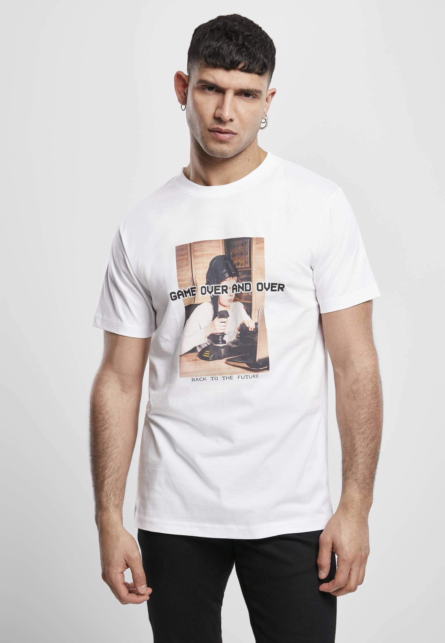 Mister Tee Game Over and Over Tee white - S