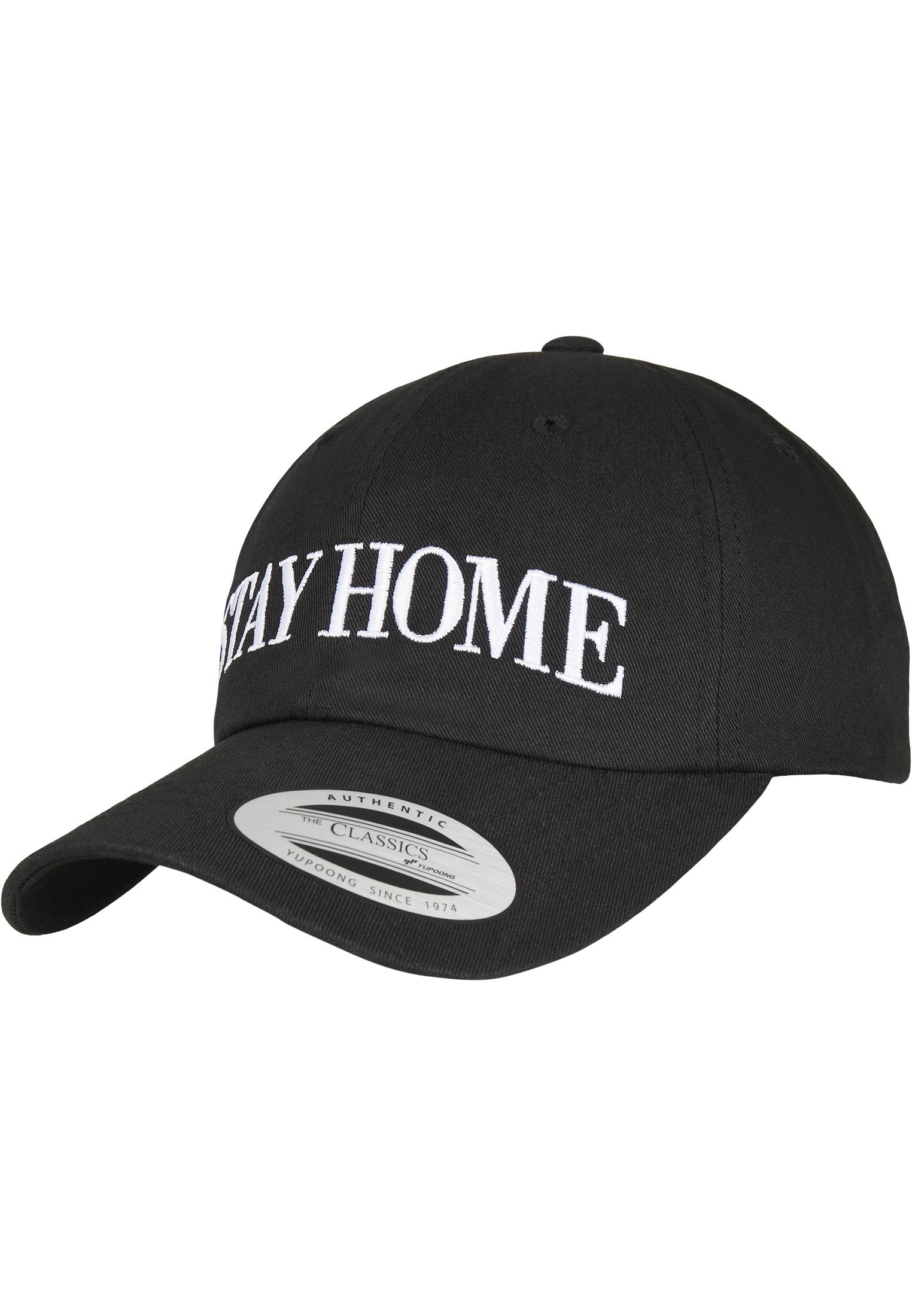 Mister Tee Stay Home EMB Dad Cap black - One Size