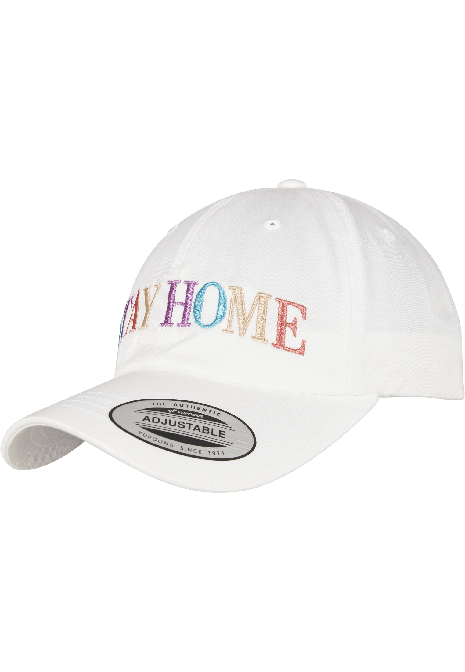 Mister Tee Stay Home EMB Dad Cap white - One Size