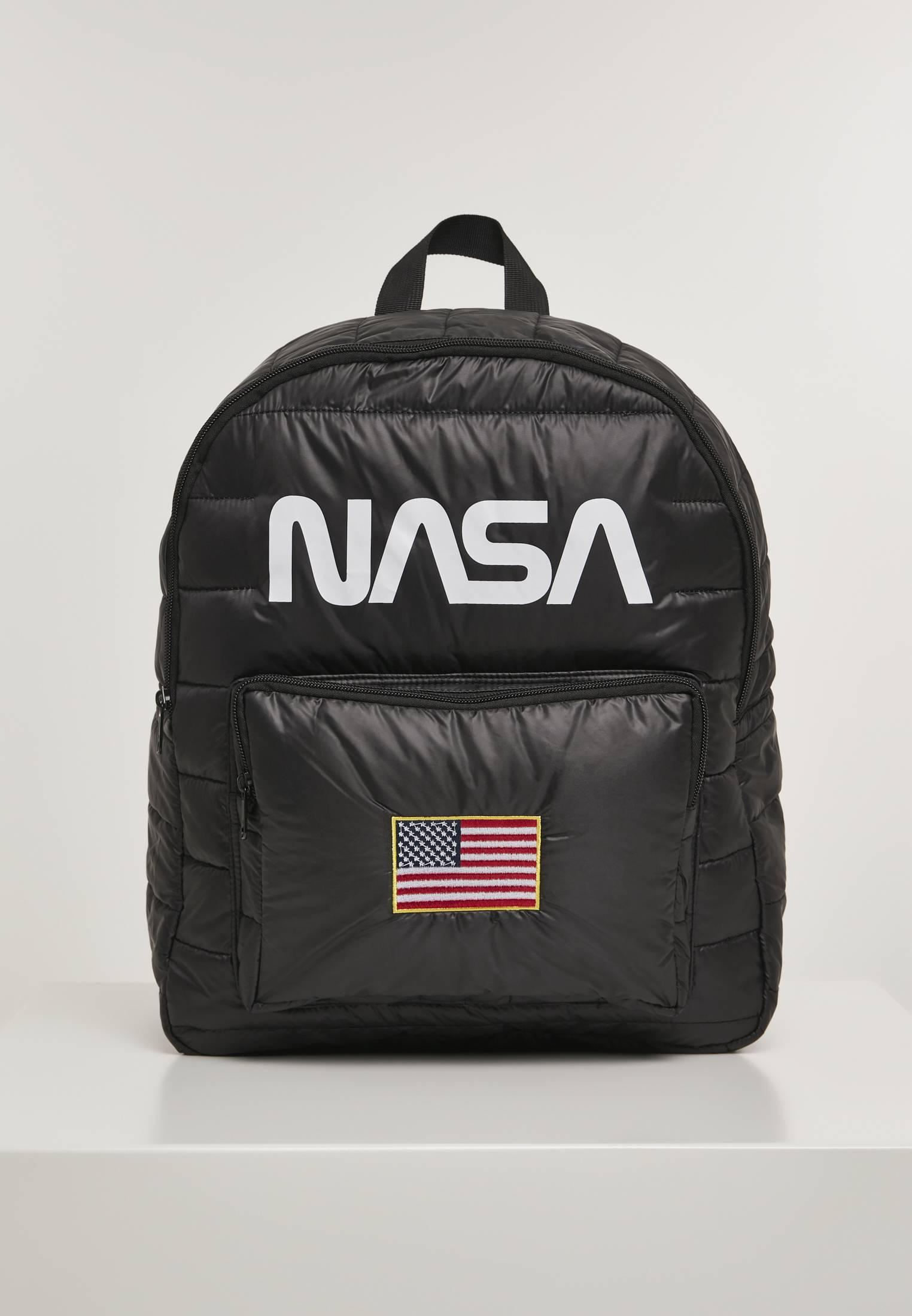 Mister Tee NASA Puffer Backpack black - One Size