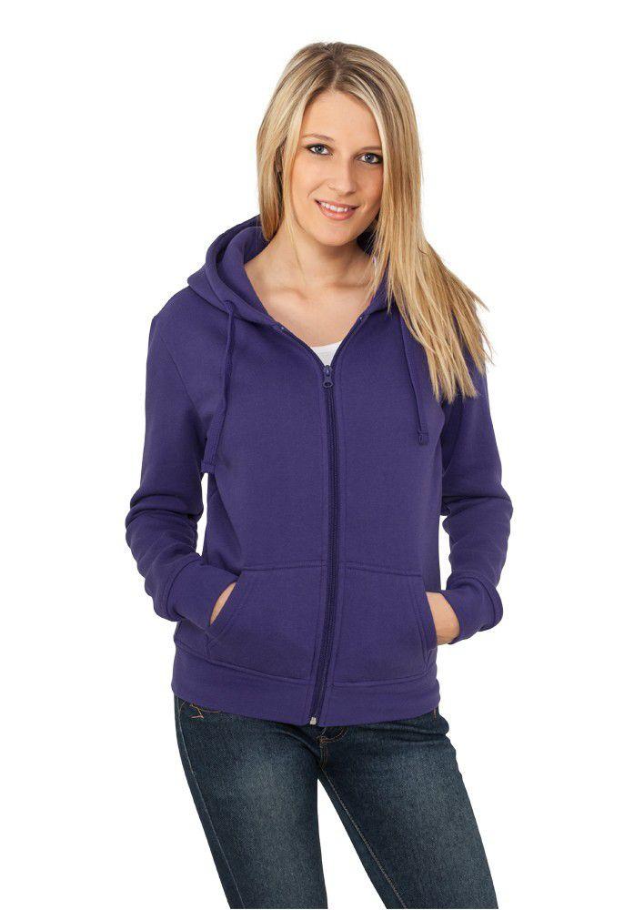 Urban Classics Ladies Zip Hoody Purple - L / fialová