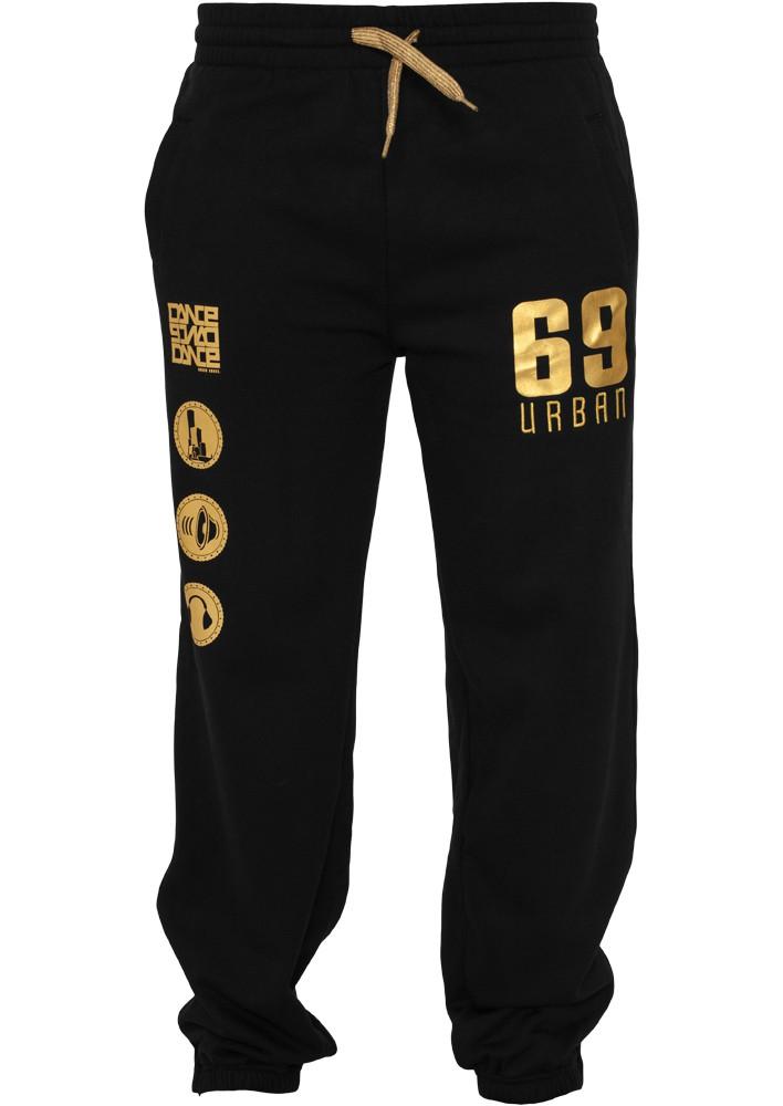 Urban Classics Dance Jogging Pant Blk Gld - XS / čierno-zlatá