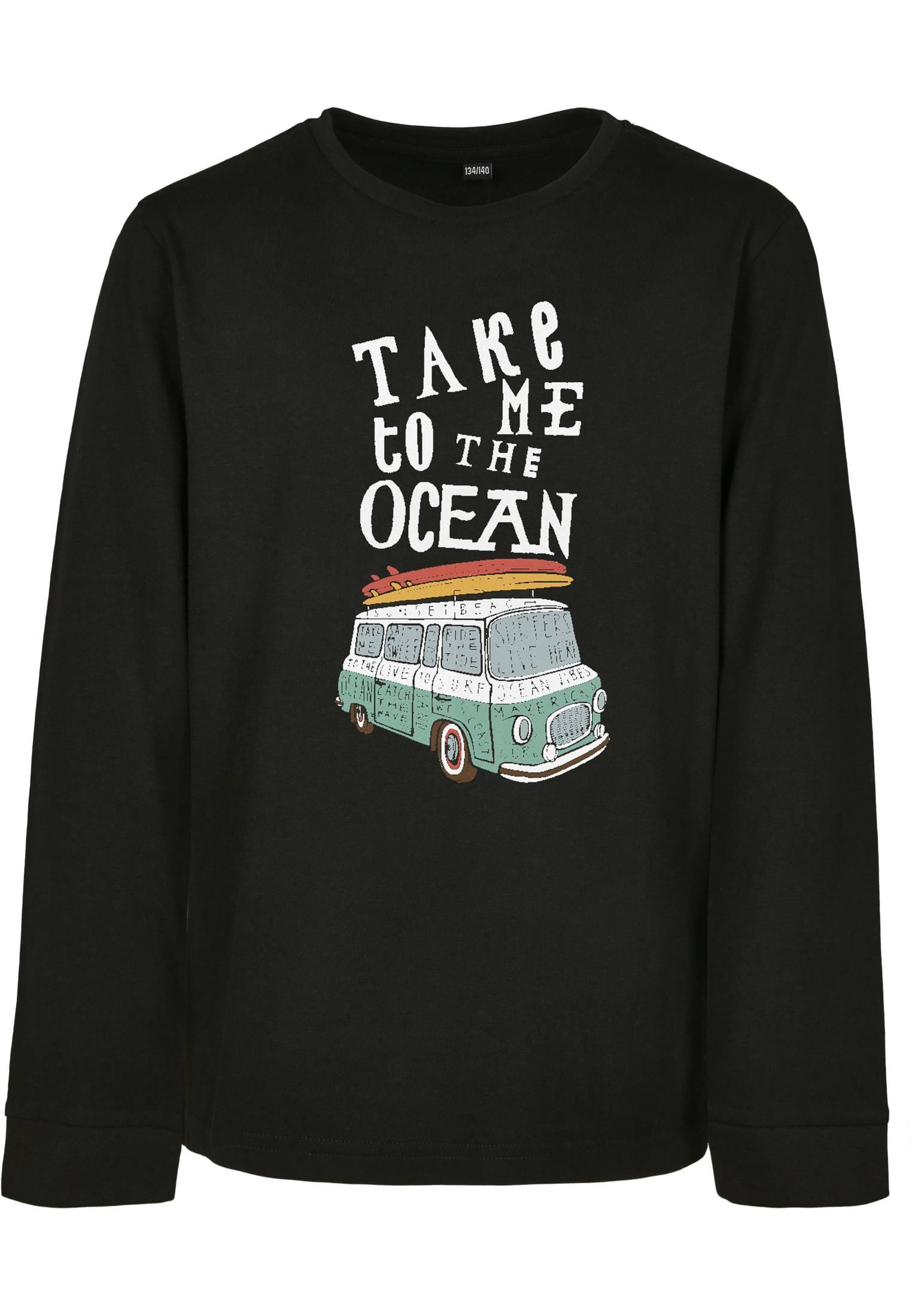 Mister Tee Kids Take Me To The Ocean Longsleeve black - 134/140